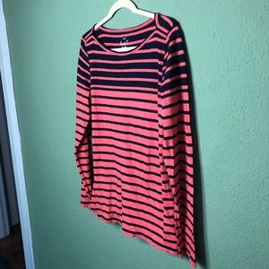 J. Crew Tops - J. Crew Artist T Navy and Coral Size Large